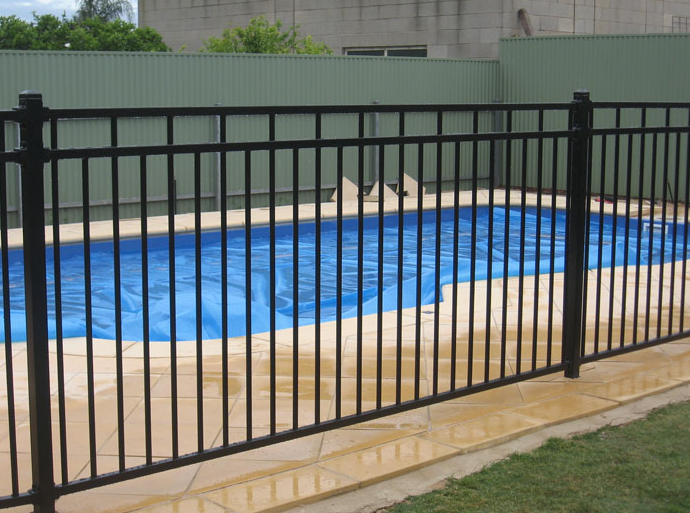 example of a pool fence after install